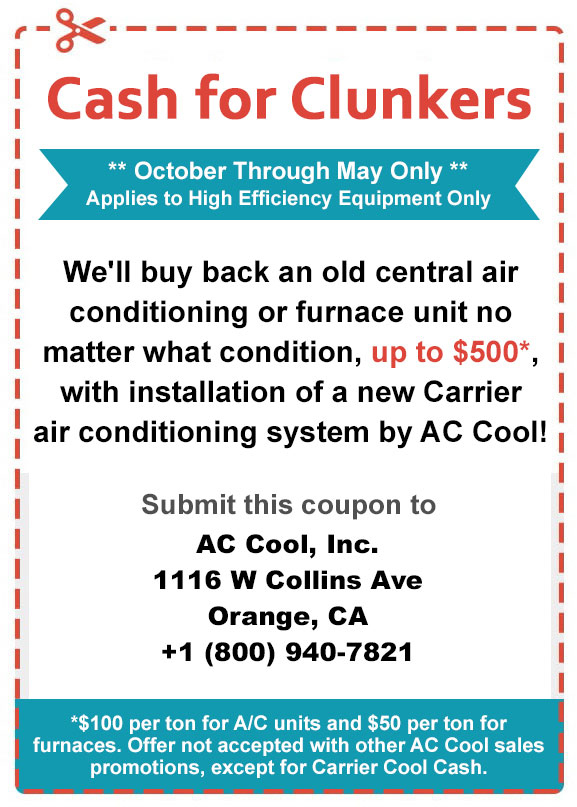 Cash For Clunkers Expires June 15 2018 Ac Cool Air Conditioning